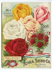 1906 Antique IOWA SEED CO. Catalog, Des Moines, Gardening, Farming, Flowers