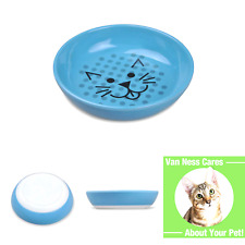 Van Ness Ecoware Cat Dish, 8 Ounce, Assorted Colors, Pacific Blue, Single Dis.