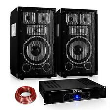 SET DJ PARTY SKYTEC AMPLIFICATORE 1200W RACK 48CM 2X CASSE PASSIVE 100W RMS