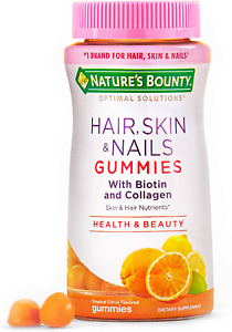 Nature's Bounty Hair, Skin & Nails with Biotin and Collagen, 80 Count, Orange
