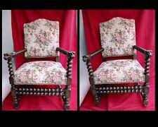 Paire de fauteuils  fin XIX siècle début  XX siècle