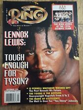 THE RING BOXING MAGAZINE~SEPTEMBER 1996~LENNOX LEWIS COVER