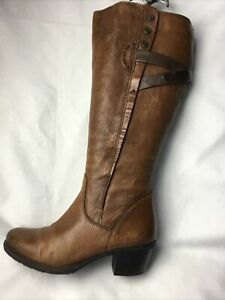 Clarks  Artisan Ladies Knee High Boots UK  Size 4.5 E EU 37.5 Brown Leather.