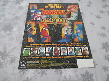 MARVEL VS CAPCOM OFFICIAL ARCADE ORIGINAL USA HANDBILL FLYER CHIRASHI!