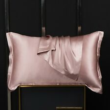 100% Pure Mulberry Silk On Both Sides 19 Momme Silk Charmeuse Pillow Case Pink