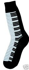 Foot Traffic Men's Pair Socks Black and White Piano Keys Cotton Blend Socks New