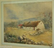 Original Watercolour Painting IRISH FARM COTTAGE by Irish Artist ROBERT BEATTIE