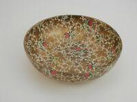 "Vintage 1950's Highmount Quality 9"" Serving Bowl Paper Mache Floral"