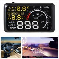 """X3 LCD 5.5""""Car HUD Head Up Display Speed Warning Speedometer Fuel Pressure Meter"""