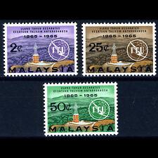 MALAYSIA 1965 ITU. 3 Values. SG 12-14. Mint Never Hinged. (AF002)