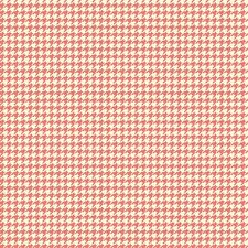 Trendsetter Houndstooth Coral, Fancy Pants Designs, Riley Blake, 1/2 yard fabric