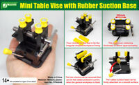 J's Work Mini Table Vise with Rubber Suction Base