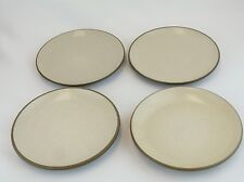 "HEATH Vintage Speckled Brown Birch 6.25"" Coupe Bread Side Plates Set of 4 Lot 1"