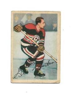 1953-54 Parkhurst:#81 Gus Mortson,Black Hawks