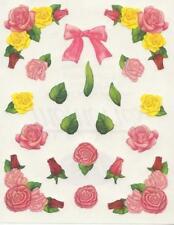 NEW Creative Memories BLOCK STICKER - PINK, YELLOW, RED ROSES, ROSE BOQUET