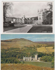 2 VINTAGE POSTCARDS WITH VIEWS OF BALMORAL CASTLE ABERDEENSHRE SCOTLAND UNPOSTED