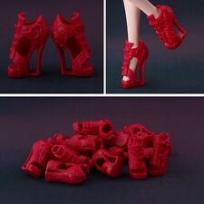50 pair / lot New High quality Original red shoes for Monster high doll