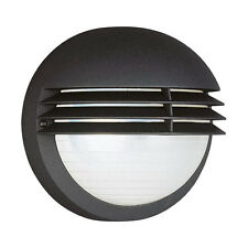 Boston Round Outdoor Outside Wall Light - Black with Louvres by Massive/Philips