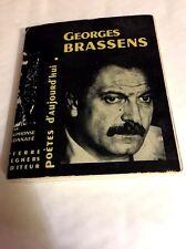 Georges  Brassens : poètes d'aujourd'hui***Alphonse  BONNAFÉ***30.07.1963***RARE