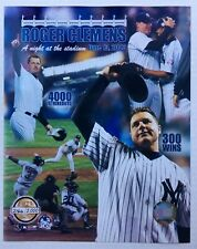 Roger Clemens 300th Win Glossy 8 X 10 Photo New York Yankees SERIAL NUMBERED DM1