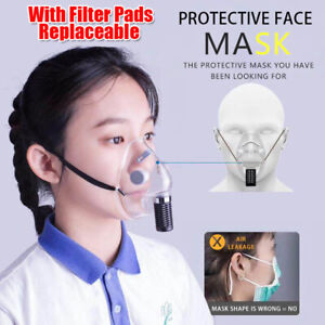 Silicone Transparent Face Shield With Purification Air Filter Mouth Covering
