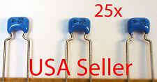 25x MURATA Ceramic Capacitor 0.1uF 50V X7R (100nF, 104K) Radial NEW, USA Seller