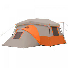 Orange 11-Person Instant Cabin W/ Private Room Outdoor Camping Picnic Hiking
