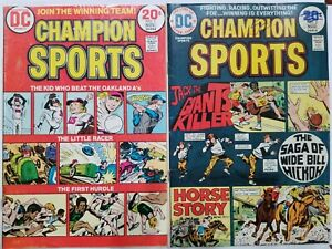 Champion Sports #1 & #3 - lot of 2 DC Comics 1973-1974 Bronze Age