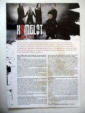 COUPURE DE PRESSE-CLIPPING :  KAMELOT  08-09/2007 Thomas Youngblood,Roy Khan