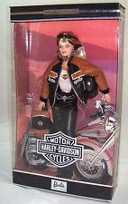 Harley Davidson Barbie Doll #4 Black & Brown Faux Leather Jacket 1999 Mint Nrfb