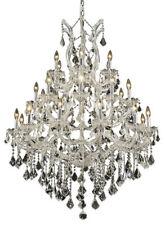 "World Capital Maria Theresa 28 Light 52""H Foyer Crystal Chandelier Chrome"