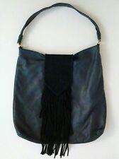 MARGOT Suede Fringe Black Leather Hobo Bag Large XL Nordstrom Festival Oversized