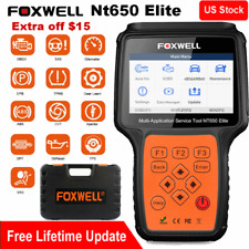 Foxwell NT650 Elite Automotive OBD2 Scanner ABS SRS BRT DPF Injector TPMS EPB US