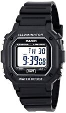 Casio F108WH-1A Men's Digital Black Resin Strap Watch