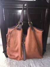 Lucky Brand brown leather Large Purse Tote Bag FREE SHIPPING Magnetic Snap Bag