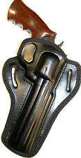 "CEBECI BLACK LEATHER OWB BELT SLIDE HOLSTER for DAN WESSON .357 6"" REVOLVER"