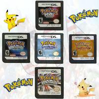 Nintendo DS - Pokemon Games; HeartGold SoulSilver Platinum Diamond Pearl & More