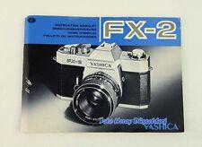 Yashica fx-2 el manual de instrucciones en alemán, entre otros idiomas 01386