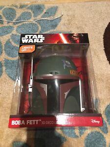 Star Wars Boba Fett Helmet, Disney Star Wars Boba Fett 3D Deco Light