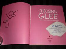 Jenna Ushkowitz signed Choosing Glee 1st printing softcover book