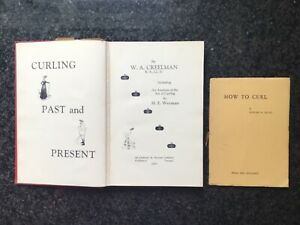 2 x Books on Ice Curling - Curling Past & Present 1950 - How To Curl 1934 Signed