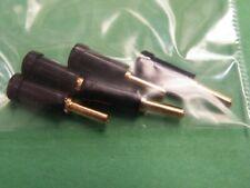 5 Pcs Gold plated 2mm Plug Black Body GJ06