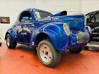 1941 Willys Hot Rod / Street Rod - 572 BIG BLOCK - OLD SCHOOL GASSER - STEEL Willys Hot Rod / Street Rod Blue-Metallic with 1,234 Miles, for sale!
