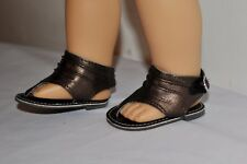 AMERICAN STYLE DOLL SHOES  FOR 18 INCH  GIRL DOLLS DRESS LOT METALIC SANDAL