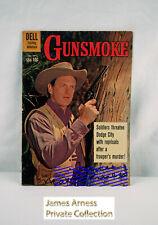 James Arness Marshal Dillon Dell Gunsmoke Comic #22  Aug-Sept 1960  Signed