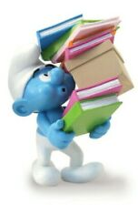 Plastoy Smurf Carrying À Polaire of Books Statue