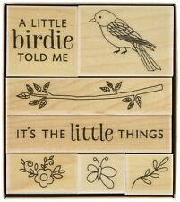 A LITTLE BIRDIE Rubber Stamps LP409 Hero Arts Set of 7  Brand NEW! branch flower