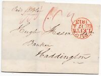 # 1813 RED CIRC PAID AT LEITH DOUBLE POSTAGE TO HUGH FRASER BANKER HADDINGTON