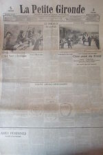 WW1  LA PETITE GIRONDE 1915 CONVOI BLESSES ESCOUADE ALPIN LE CHOCOLAT DE LA PAIX