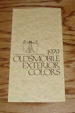 Original 1979 Oldsmobile Exterior Colors Sales Brochure 79 Toronado